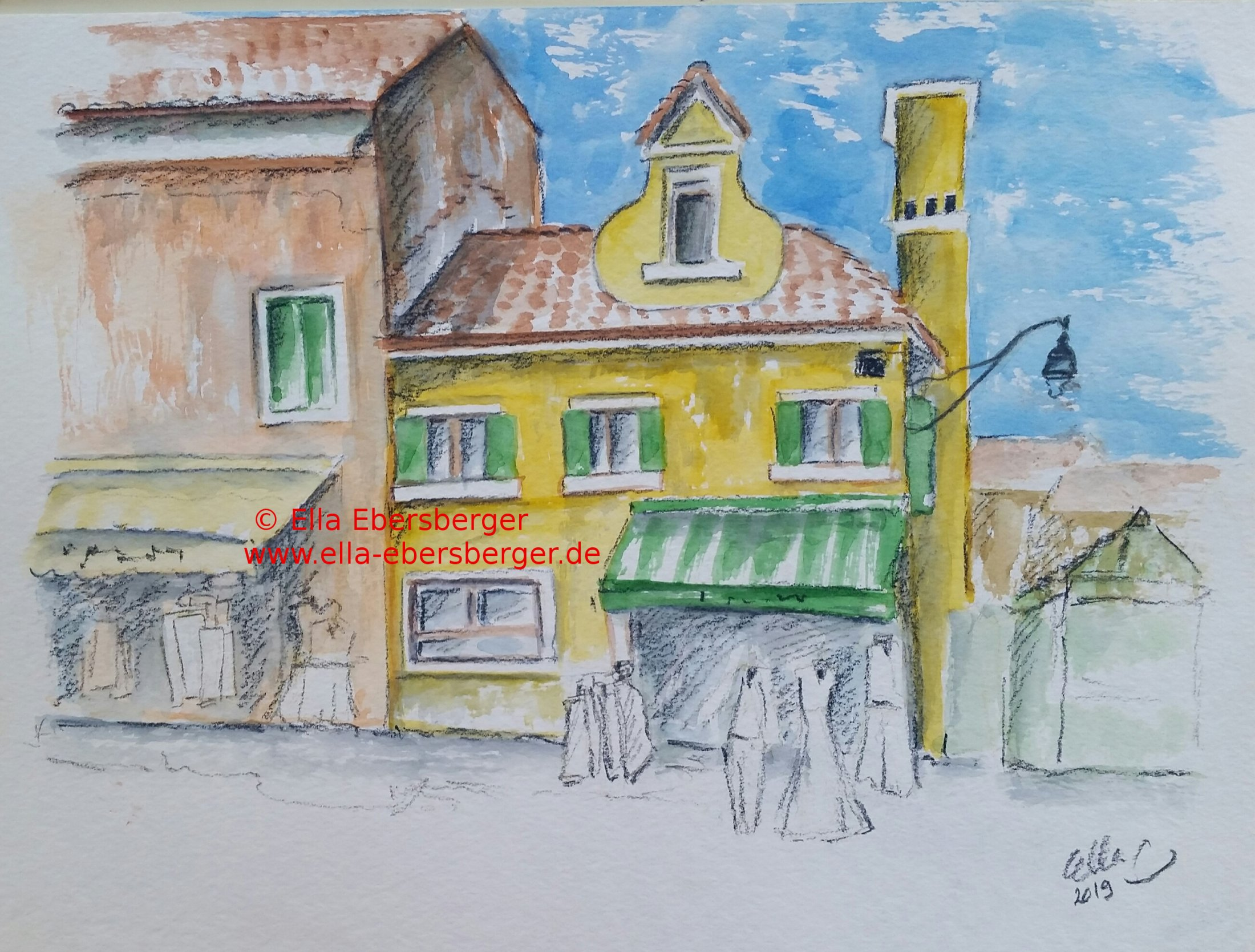 Gelbes Haus In Burano