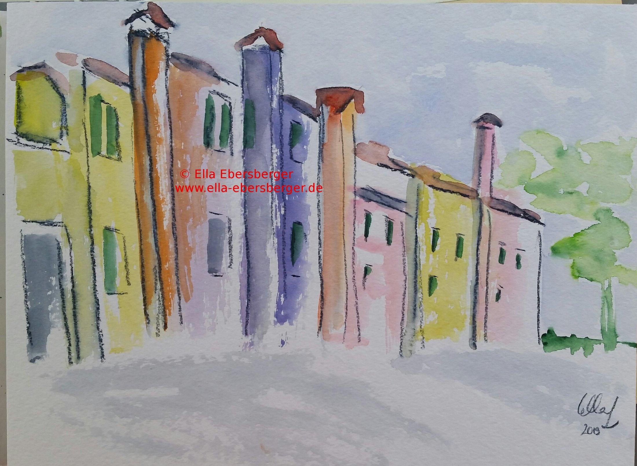 Häuserzeile Burano