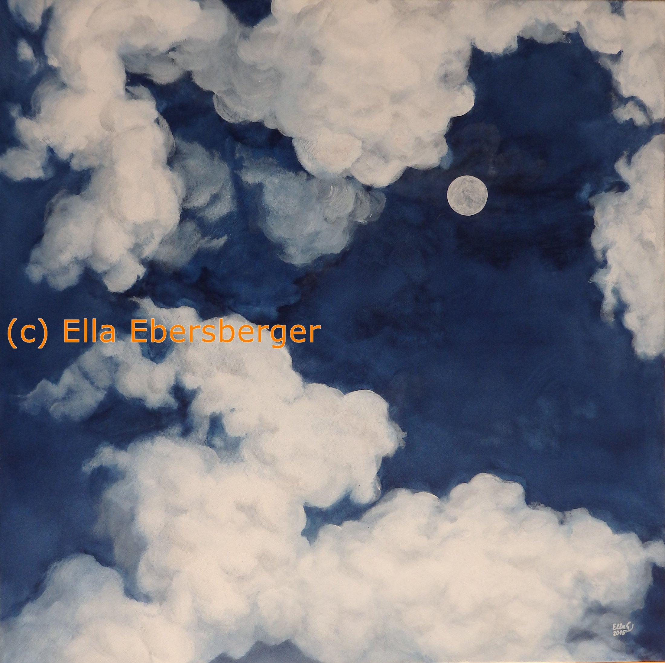 Mond in den Wolken