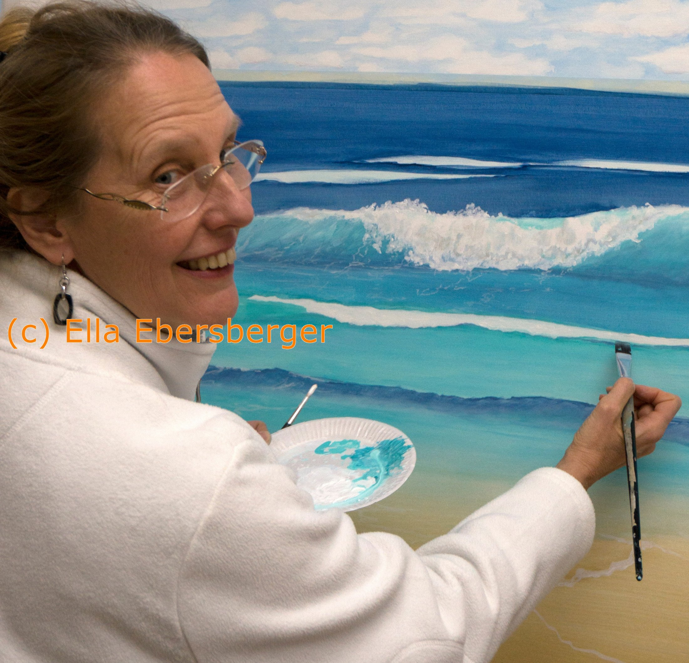 Ich male am Meer