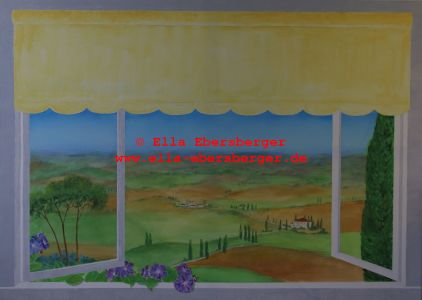 Blick über die Toskana