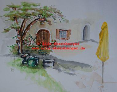 9. Gelber Sonnenschirm