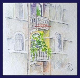 Balkon In Venedig
