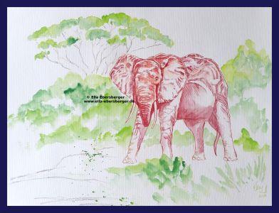 Roter Elefant