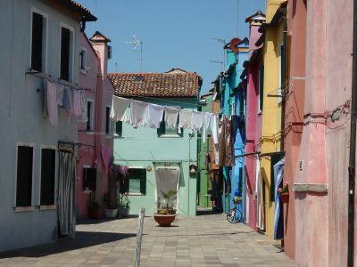 Wäsche in Burano